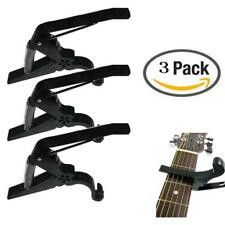 3PCS Plastic Capos Tuner for Acoustic Electric Classic Guitar