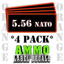 """5.56 NATO Ammo Label Decals for Ammunition Case 3"""" x 1"""" Can stickers 4 PACK -OR"""