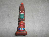 Alaskan Totem Pole  - 5'' Tall By Authentic Alaska Craft