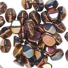 20 Czech Glass 5mm x 4mm Triangular Shaped Triangle Buckwheat Oval Barrel Beads