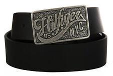 Cintura Uomo Pelle Belt Tommy Hilfiger Art. Am0am01309 Taglia 110 Col. 002 Nero