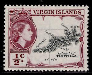 BRITISH VIRGIN ISLANDS QEII SG149a, ½c black & deep reddish-purple, M MINT.