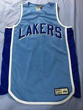 628bfb301 Majestic Hardwood Classics Sky Blue LA Lakers Basketball Jersey XL
