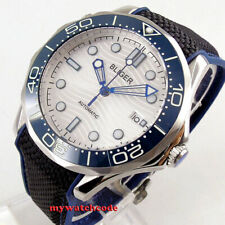 41mm bliger white dial sapphire crystal ceramic bezel automatic mens watch B254