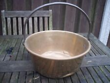 VINTAGE Large BRASS Jam PAN  IRON Handle 30 cm x 30 cm  Super kitchen display