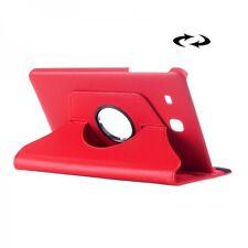 Housse 360 Degré rouge étui pour Samsung Galaxy Tab E 9.6 SM T560 T561 housse