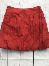 Womens Banana Republic Bubble Pleated Skirt Burnt Orange Size 8