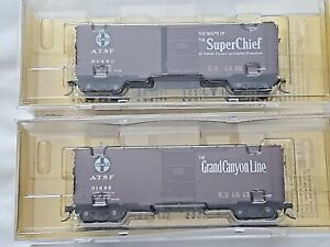 Lot 2 NEW-Kadee ATSF PS-1 40' Boxcar-Grand Canyon Line 4018/Super Chief 4015