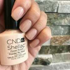 CND Shellac Powder My Nose color coat top Qualität Gel Kit UV LED Lack Gel