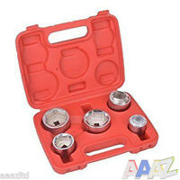 5PC OIL FILTER SOCKET SET CAP WRENCH KIT 24 27 32 36 38 MM High Quality