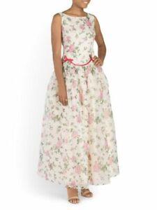 Red Valentino Silk Garden Dress Maxi Size 40 (0-2 US)