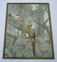 LARGE BUDIARTHA PAINTING UBUD BALI MASTERFUL TROPICAL 49 INCHES PARROT LANDSCAPE