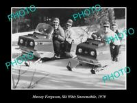 OLD 8x6 HISTORIC PHOTO OF MASSEY FERGUSON SKI WHIZ SNOWMOBILE c1970s