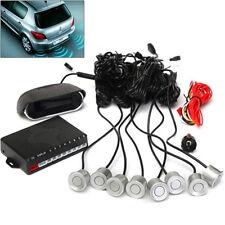 8 Parking Sensor Dual-core Double LCD Display Car Reverse Radar Alarm Kit Handy