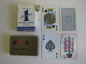 WADDINGTON'S NUMBER 1 PLAYING CARDS RARE VINTAGE LAS VEGAS Club casino HAMILTON