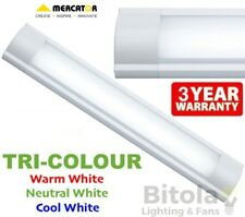 NEW TRI-COLOUR CCT MERCATOR METRO 600mm 25w LED CEILING BATTEN LIGHT MF3625CCT