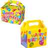 Happy Birthday  Boys Girls Party Food Boxes Loot Lunch Cardboard Childrens Kids