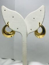 RLM STUDIO 14ky Gold Tapered Side Facing Hoops 585 Excellent condition