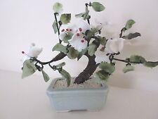 "Oriental Glass Feng Shui Tree in Ceramic Pot Decor (3 1/2 "" x 5 "" )"