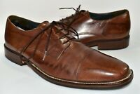 Bostonian Brown Leather Dress Shoes Cap Toe Oxford Mens Size 12 D