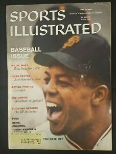1959 APRIL 13 SPORTS ILLUSTRATED MAGAZINE *SPECIAL BASEBALL ISSUE-WILLIE MAYS*