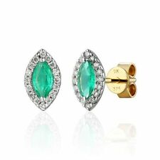 Emerald Stud Not Enhanced Fine Earrings