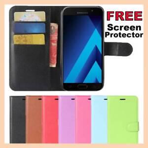 Leather Wallet Card Flip Case Stand Cover For Samsung J1 J2 J5 J7 PRO 2017 2018