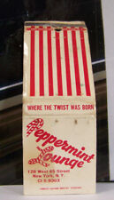 Rare Vintage Matchbook Cover W1 Peppermint Lounge New York City Twist Rock