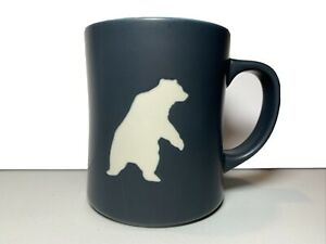 Starbucks 2012 Yukon Polar Bear Embossed Coffee Mug Cup Blue 16oz