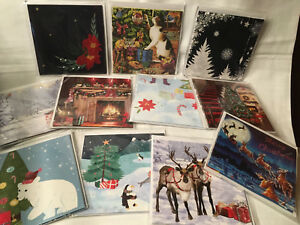 NEW Treasures Pop Up Greeting Card Christmas Dogs Mischief Santa Holiday Joy