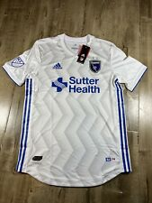 Adidas San Jose Earthquakes MLS Authentic Secondary Away CE6286 Mens Jersey