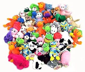 Variety Pre-pack Mix Stuffed Plush Toy Lot Mix 100 Pieces 7-9 Inch