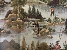 Fly Fishing print tapestry fabric Sale Price For One Yd. By 56 Wide