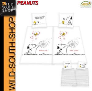 Peanuts Partner Bettwäsche Snoopy 4-teilig Doppelpack 135x200 100% Baumwolle RV