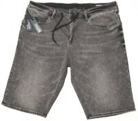NWT $59 Buffalo David Bitton Mens Grey Denim Shorts Parker-x Slim Fit Stretch