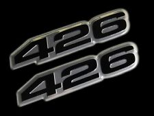 VMS 2 CHRYSLER DODGE 426 CI CUBIC INCH HEMI ENGINE HO EMBLEM BLACK SILVER