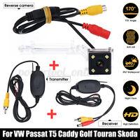 4 LED Caméra de Recul Arrière Sans fil pour VW Golf Polo Passat T5 Touran Caddy