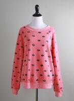 WILDFOX Couture $104 Lip Service Lips Print Sweatshirt Sweater Top Size XS
