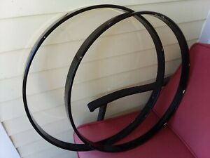 """PEARL 22"""" bass drum HOOPS rims - Maple Decade - wood - black lacquer - pair"""