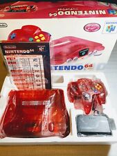 ★ Nintendo 64 Console Boxed Clear Red Very Good Condition Serial Matching ★