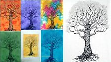 Good Looking Dry Tree Pattern Collage Door Decor Cotton Tapestry Handmade Fabric