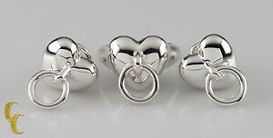 """Tiffany & Co. Sterling Silver Vintage 1995 """"Door Knocker"""" Earrings and Ring Rare"""
