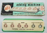 VINTAGE Sterling Dial-A-Matic Automatic Adding Machine 6 Dial Desk Type Model