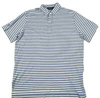 Polo Golf Ralph Lauren Men's Polo Shirt Size XL Blue White Striped Pre-Owned