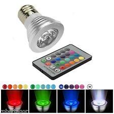 FARETTO LED LUCE RGB PROGRAMMABILE EFFETTI E MULTICOLORE E27 3W CON TELECOMANDO