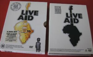 1 x BOXED DVD (4 DISCS) - LIVE AID - JULY 13TH 1985 - + BOOKLET- PAL - FREE POST