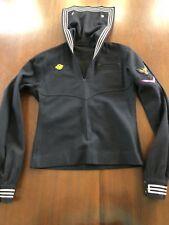 Vtg Wwii Era Navy Sailor Cracker Jack Shirt Custom Made Wool Airman
