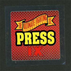 Official UFC 9  Press Pass Credential Dan Severn Ken Shamrock