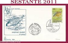 SAN MARINO FDC CAPITOLIUM 209  CAMPIONATI MONDIALI  DI PESCA 1985 (427)