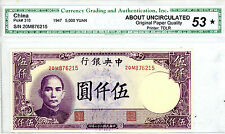 China ... P-310 ... 5.000 Yuan ... (1947) ... *Choice AU/UNC*.
